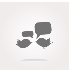 internet web icon with bird family and vector image