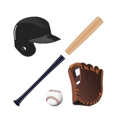 Items for baseball vector