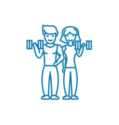 Joint sports activity linear icon concept joint vector