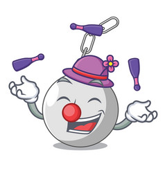 Juggling wrecking ball attached character on vector