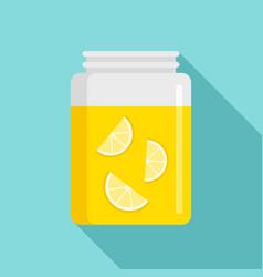 lemonade jar icon flat style vector image