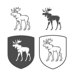 Logo elk on a white background vector