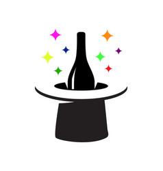 magic wine logo vector image