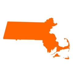Map of Massachusetts vector