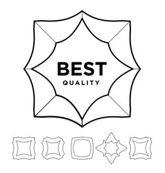 medal award best quality stars outline silhouette vector image
