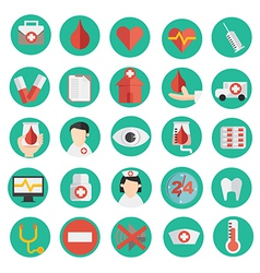 medical icon in flat design vector image