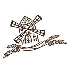 Mill grain bakery vector