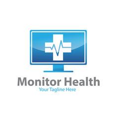 monitor health logo designs vector image