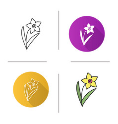 Narcissus flower icon vector