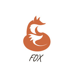 Orange fox icon vector