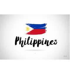 Philippines country flag concept with grunge vector