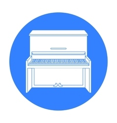 Piano icon in black style isolated on white vector image