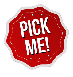 Pick me label or sticker vector