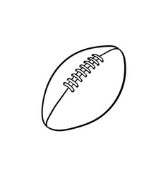 rugby ball hand drawn outline doodle icon vector image