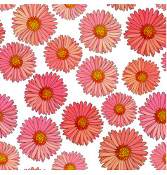 Seamless aster background vector