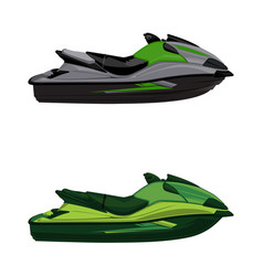 set jet ski scooter vector image