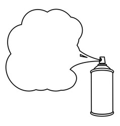 Silhouette can of spray paint icon vector