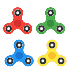 spinner icon set toy fidget to relieve stress vector image