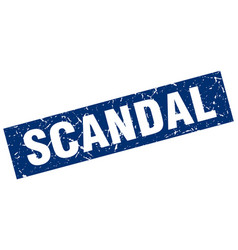 square grunge blue scandal stamp vector image