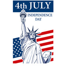 Statue of liberty independence day vector