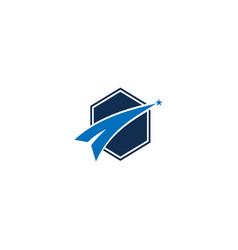 Success star logo design template vector