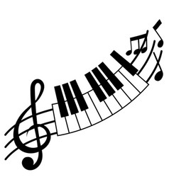 treble clef and piano board vector image