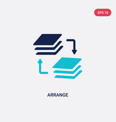 Two color arrange icon from education concept vector