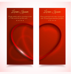 Valentines vertical banners set vector