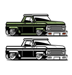 vintage low pick up truck vector image