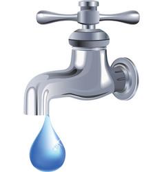 water tap faucet vector image