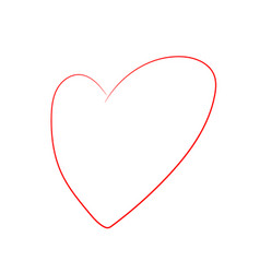 cartoon heart isolated on white background vector image
