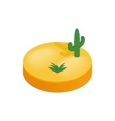 Desert isometric 3d icon vector