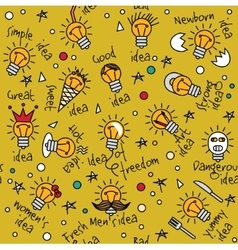 Doodles creative ideas color seamless pattern vector image