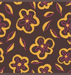 ink floral artistic background vector image vector image