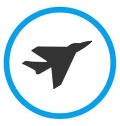 Intercepter circled icon vector