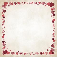 Border of hearts vector image vector image