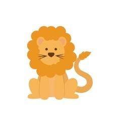 Cute lion cartoon vector image vector image