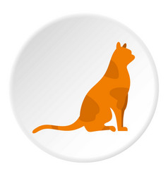 sitting cat icon circle vector image vector image