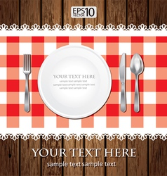 Empty Dinner Plate vector image