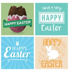 Four Happy Easter Cards vector image