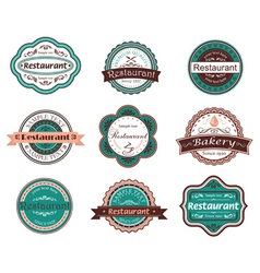 Retro food labels and emblems vector