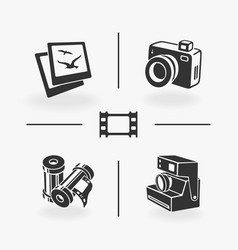 set of elements photo vector image vector image