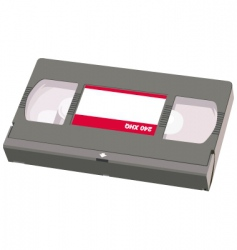 video tape object vector image