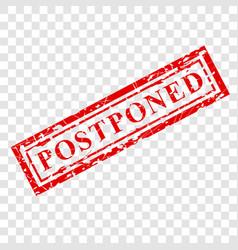 1 red grunge rubber stamp effect postponed at vector