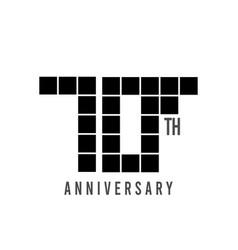 70 th anniversary pixel model template design vector