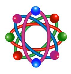 Abstract atomic molecular team vector