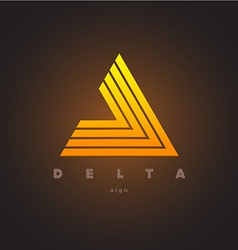 Abstract triangle logo template Delta sign vector