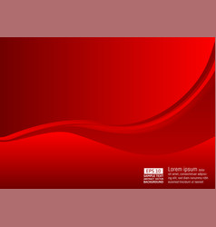 abstract wave and background red color with copy vector image