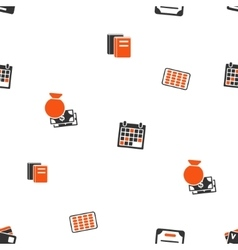 Accounting Schedule Seamless Flat Wallpaper vector image
