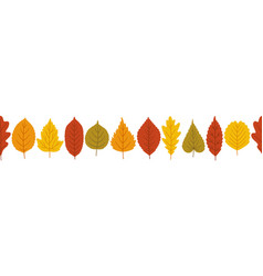 Autumn leaves background banner template vector